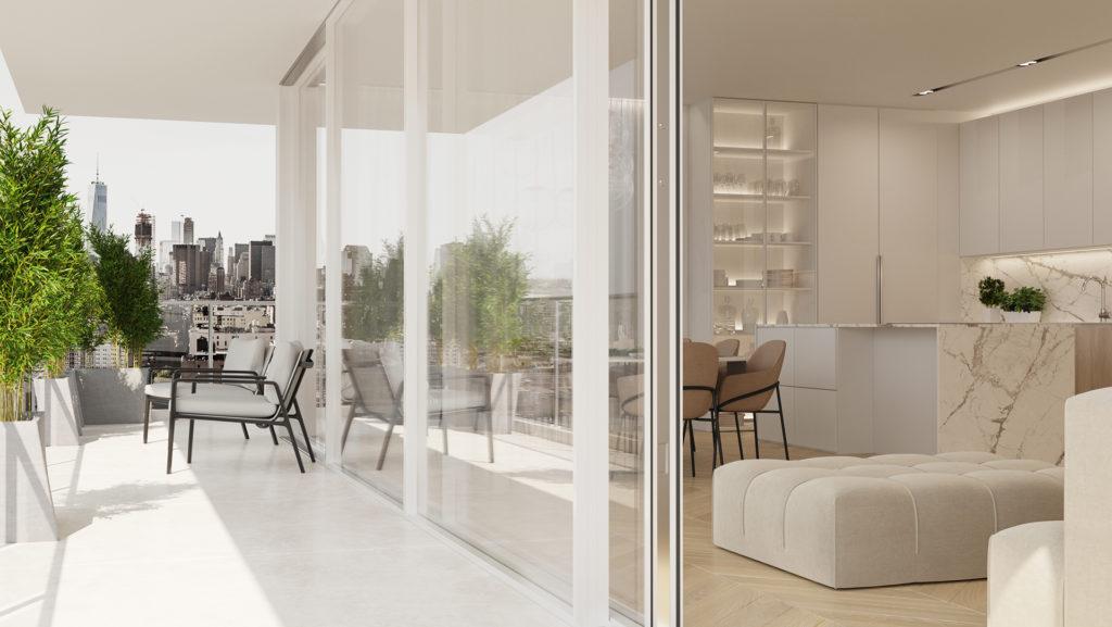 wizualizacja balkonu i mieszkania